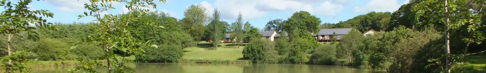 View of Blagdon Farm Lodges and fishing lake